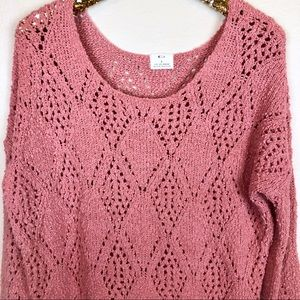 UO Pins And Needles • Open Knit Chunky Sweater